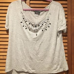 Tops - Dots 💎 Grey shirt with jewels 💎